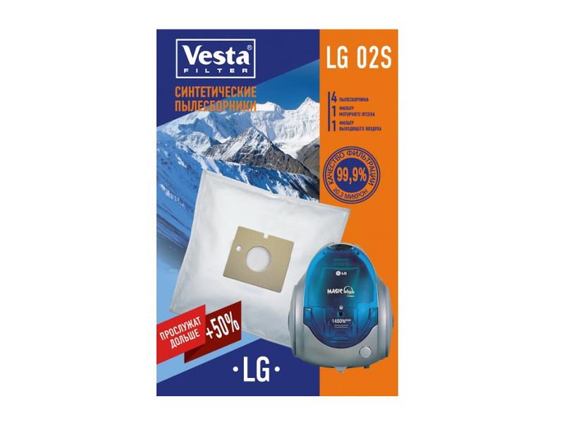 Мешки пылесборные Vesta Filter LG 02 S