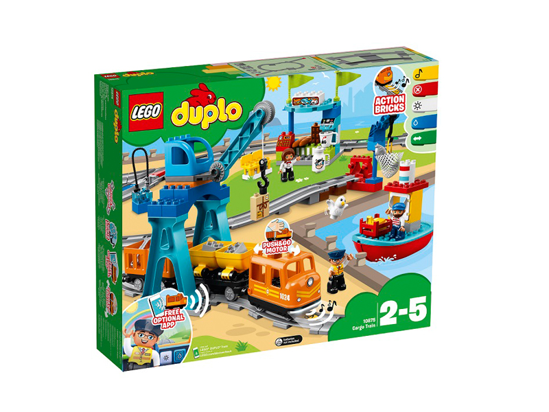 цена на Конструктор Lego Duplo Грузовой Поезд 10875