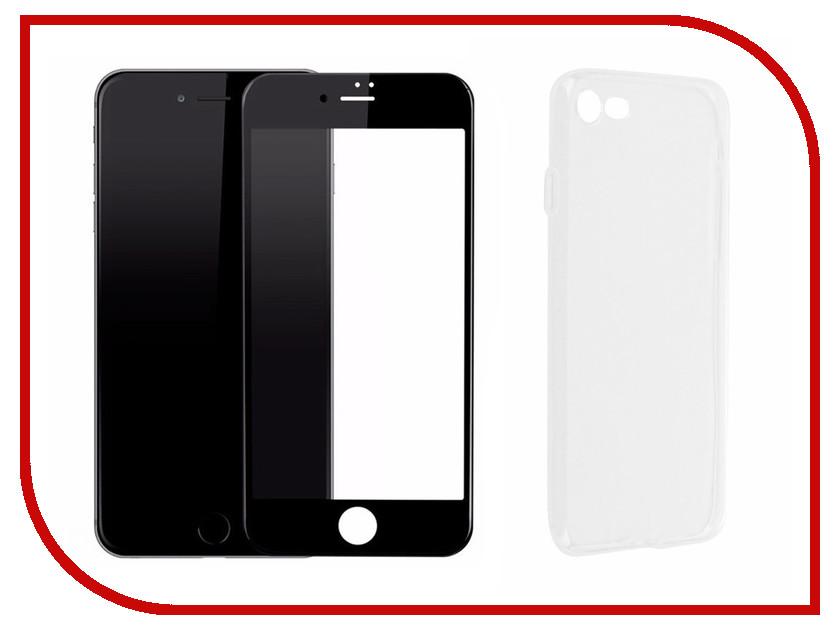Аксессуар Защитное стекло + накладка для APPLE iPhone 7 / 8 Innovation Lux 5D Black 11702 аксессуар чехол innovation jeans для apple iphone 7 8 blue 10778
