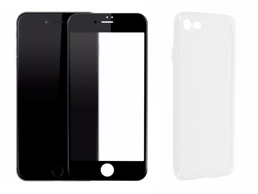 Аксессуар Защитное стекло + накладка Innovation для APPLE iPhone 7 / 8 Lux 5D Black 11702