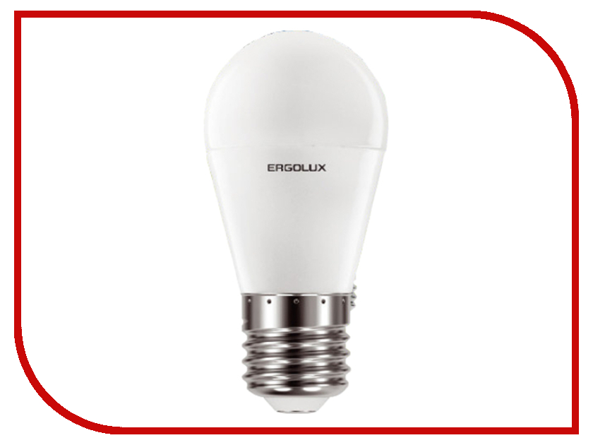 Лампочка Ergolux LED-G45-9W-E27-3K 13176 led smart bulb e27 5w 7w 9w led emergency light 85 265v rechargeable battery lighting lamp for outdoor lighting bombillas
