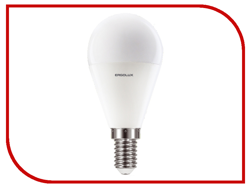 Лампочка Ergolux LED-G45-9W-E14-3K 13173 lampada ac 220v 9w 12w e27 b22 e14 cob led bulb lamp corn light led spotlight cold white warm white led lighting free shipping
