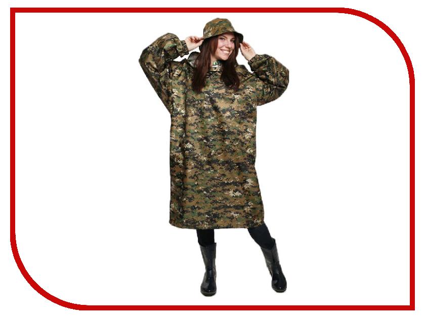 Плащ-дождевик Русский дождевик Артик р.52-62 Camouflage Pixel