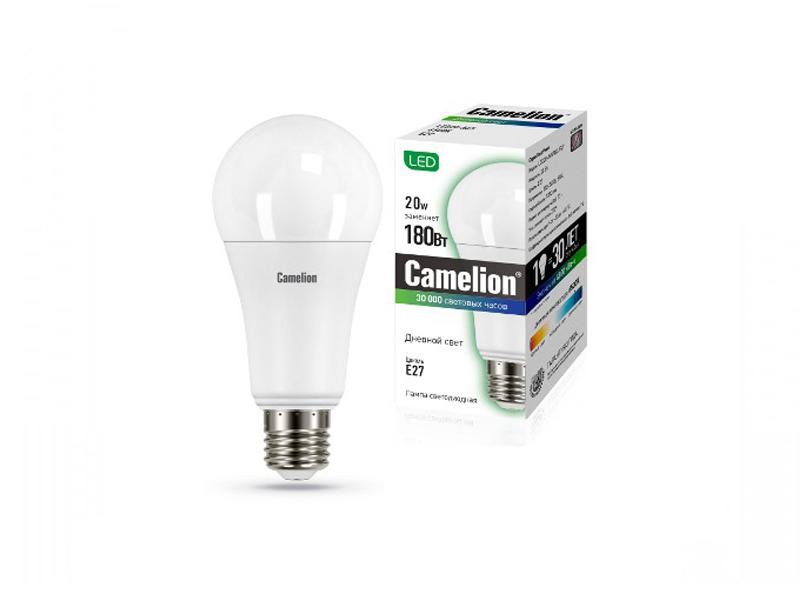 Лампочка Camelion E27 20W 220V 6500K 1870Lm LED20-A65/865/E27 13166