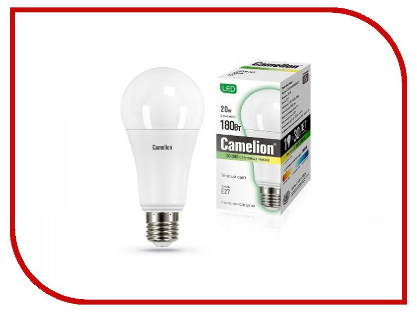 Лампочка Camelion E27 20W 220V LED20-A65/830/E27 13164
