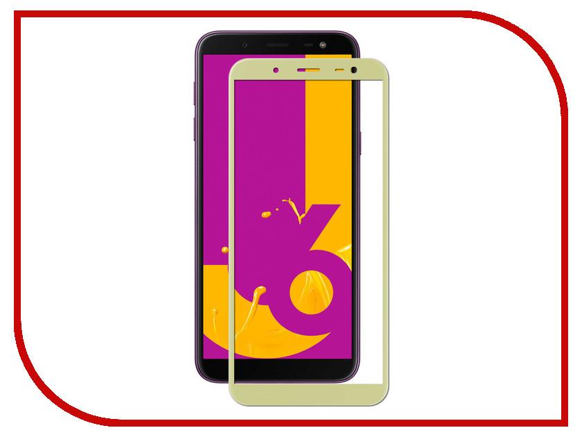 Аксессуар Защитное стекло для Samsung Galaxy J6 2018 LuxCase 2.5D Full Screen Gold frame 77874 аксессуар защитное стекло для samsung galaxy j7 2017 luxcase 3d gold frame 77365