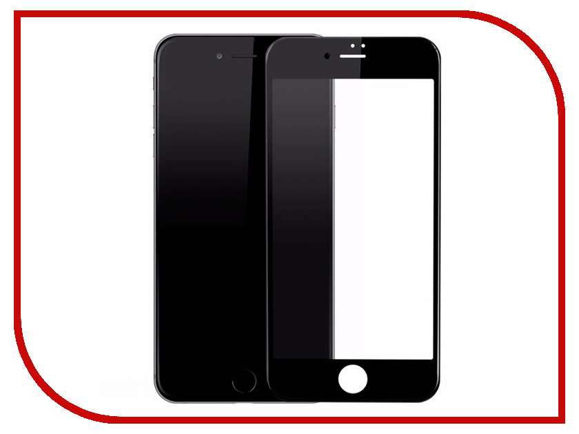 Аксессуар Защитное стекло LuxCase 3D DustProof для APPLE iPhone 8/7 Plus Black frame 77945 аксессуар защитное стекло solomon 3d для apple iphone 7 8 3d black