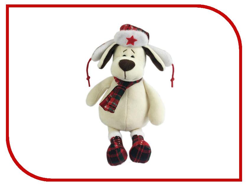Игрушка ABtoys Собака в ушанке с шарфом 18cm YSL18668 мягкая игрушка plush apple собака с шарфом 28 см