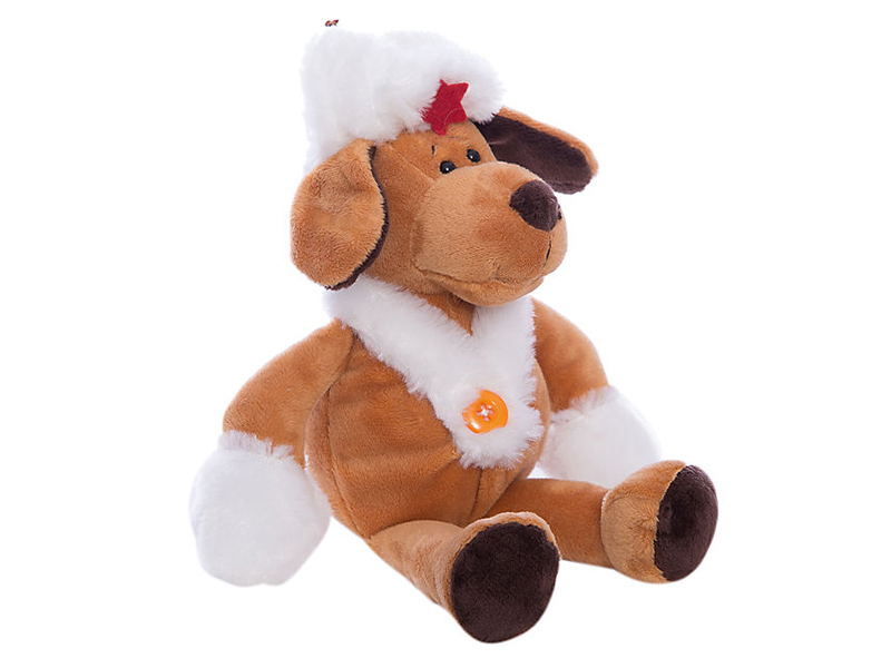Игрушка ABtoys Собака в белой ушанке 16cm YSL18698 футболка с полной запечаткой для мальчиков printio путь воина