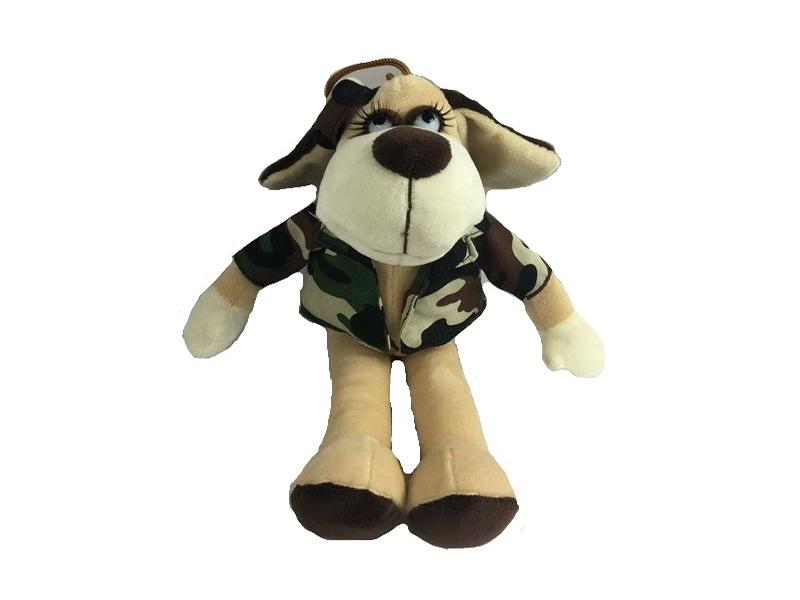Игрушка ABtoys Собака в камуфляжном костюме 18cm YSL18773