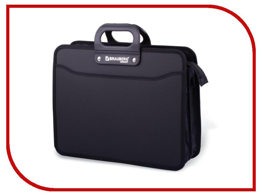 цена на Папка Портфель Brauberg A4 390x315x120mm Black 223082
