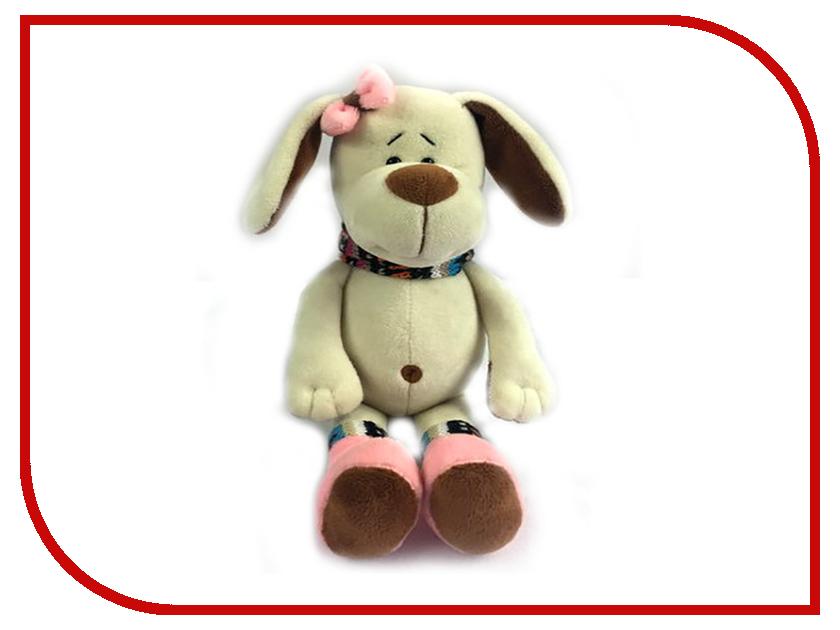 Игрушка ABtoys Собака с розовым бантом 17cm YSW18656