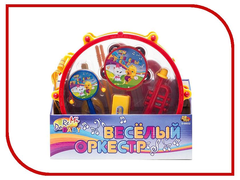 Детский музыкальный инструмент ABtoys Веселый оркестр в барабане D-00032