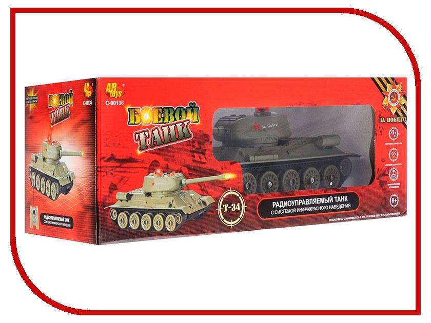 Игрушка ABtoys Т-34 C-00136 553 игрушка abtoys спецтехника c 00140 6807a 1 22 30 см