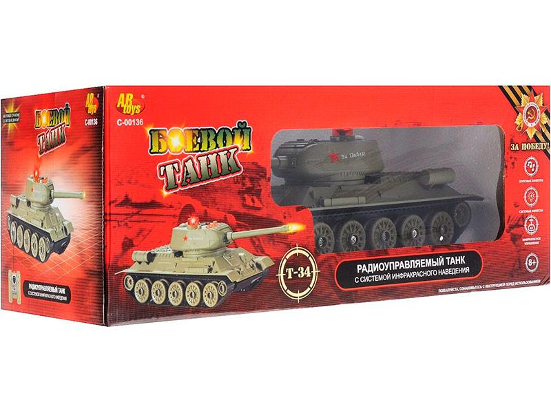 Игрушка ABtoys Т-34 C-00136 553 игрушка abtoys джип монстры бездорожья c 00190