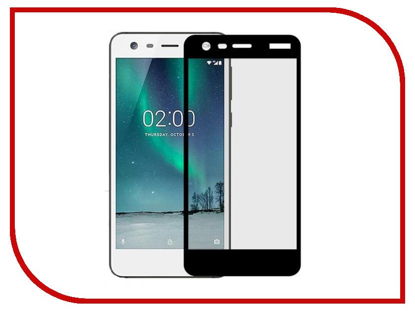 Аксессуар Защитное стекло Nokia 2 Solomon Full Cover Black
