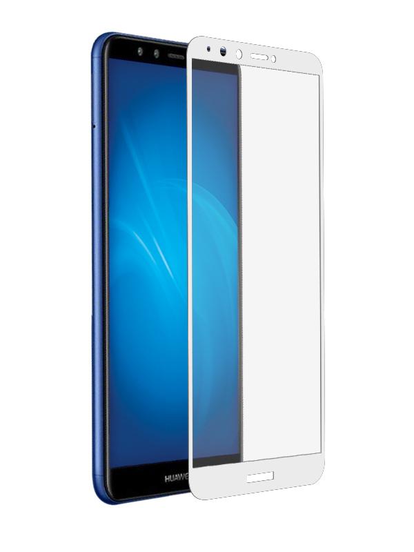 Аксессуар Защитное стекло Solomon для Huawei Y9 2018 Full Cover White аксессуар защитное стекло для huawei honor 7x solomon 2 5d full cover white 2599