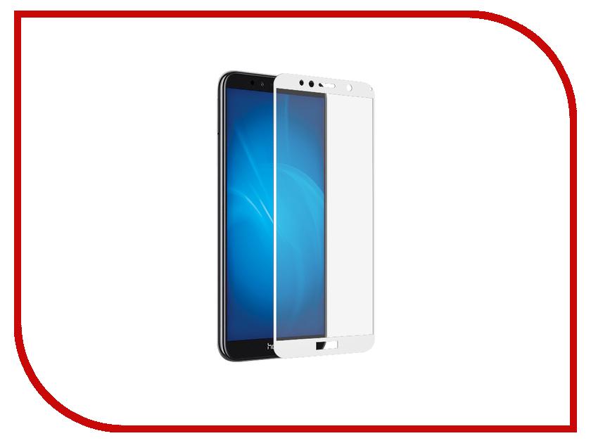 Аксессуар Защитное стекло Huawei Honor 7A Solomon Full Cover White аксессуар защитное стекло sony xperia m4 aqua solomon