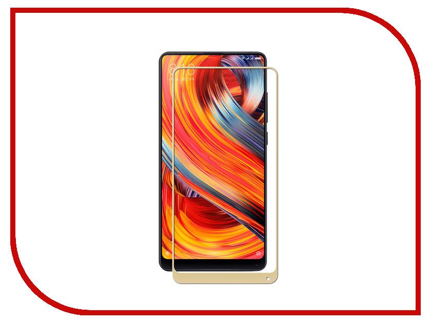 Аксессуар Защитное стекло для Xiaomi Mix 2/2S Solomon Full Cover Gold защитное стекло solomon для xiaomi redmi 2 0 33мм 9h глянцевое