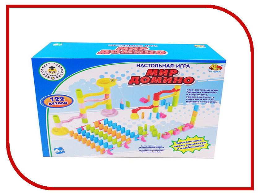 Настольная игра ABtoys Мир домино PT-00820 настольная игра abtoys торт в лицо pt 00650