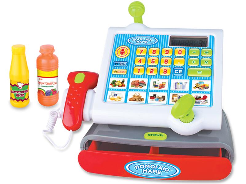 Детская касса ABtoys Помогаю маме PT-00579 набор посуды для чаепития abtoys помогаю маме pt 00257