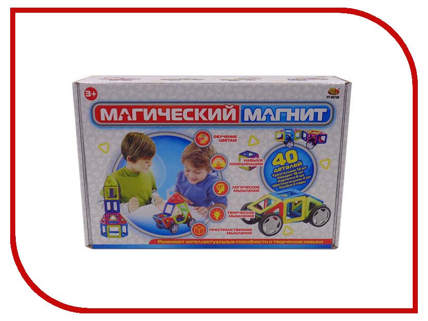 Конструктор ABtoys Магический магнит 40 дет. PT-00748 abtoys abtoys конструктор kidblock со щетинками 150 деталей