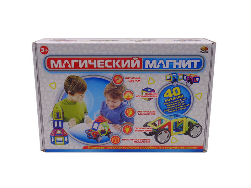 Конструктор ABtoys Магический магнит 40 дет. PT-00748