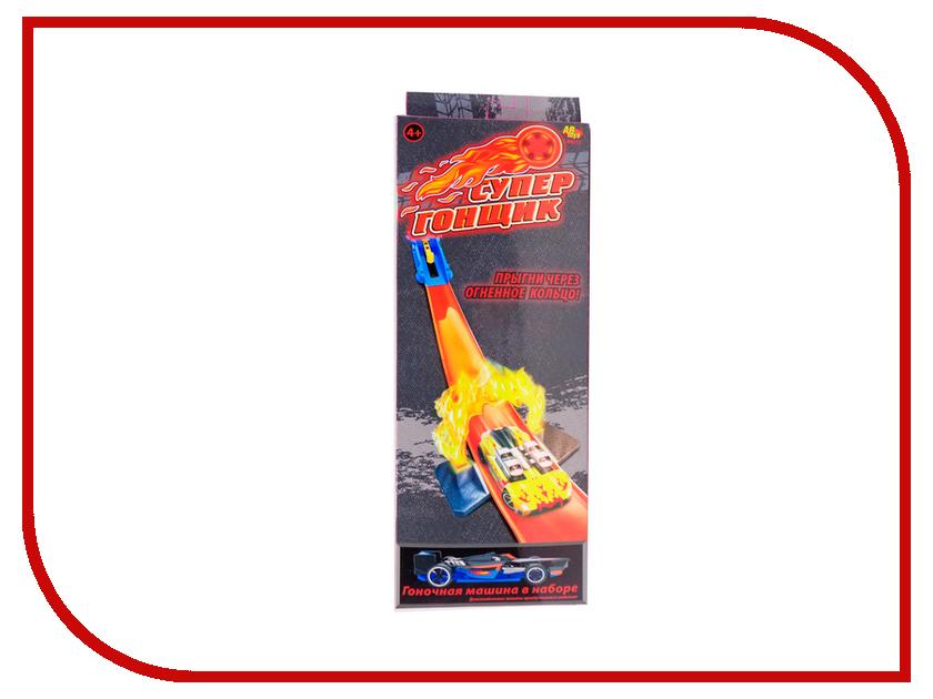 Автотрек ABtoys Супер гонщик - Прыгни через огненное кольцо! C-00213 abtoys железная дорога супер гонщик c 00212