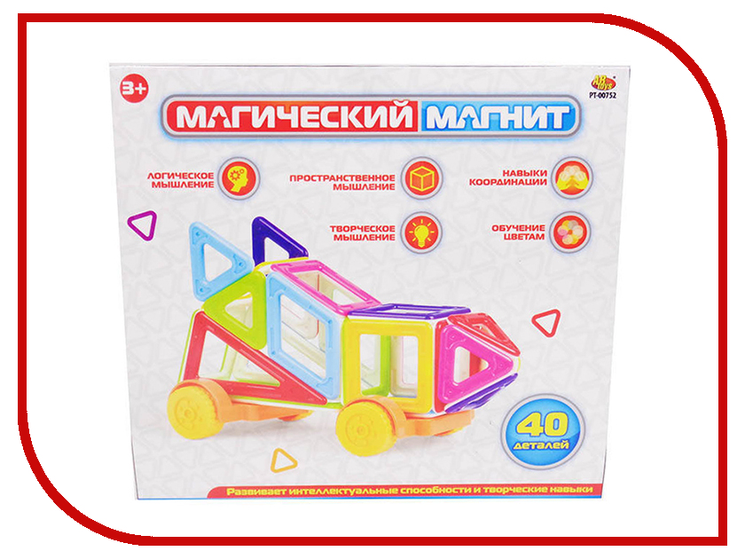 Конструктор ABtoys Магический магнит 40 дет. PT-00752 велосипед pegasus kids girl 12 2016