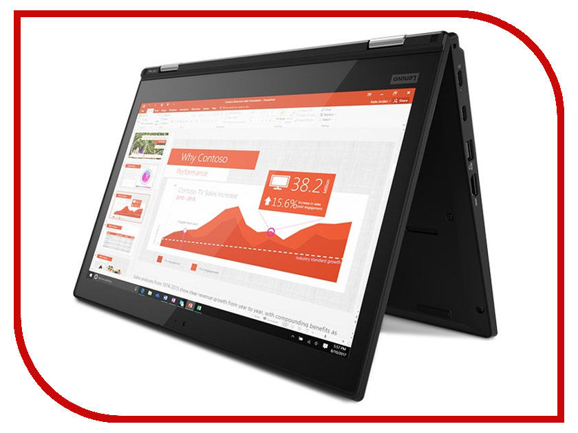 Ноутбук Lenovo ThinkPad L380 Yoga Black 20M7001BRT (Intel Core i5-8250U 1.6 GHz/8192Mb/256Gb SSD/Intel HD Graphics/Wi-Fi/Bluetooth/Cam/13.3/1920x1080/Touchscreen/Windows 10 Pro 64-bit) цена