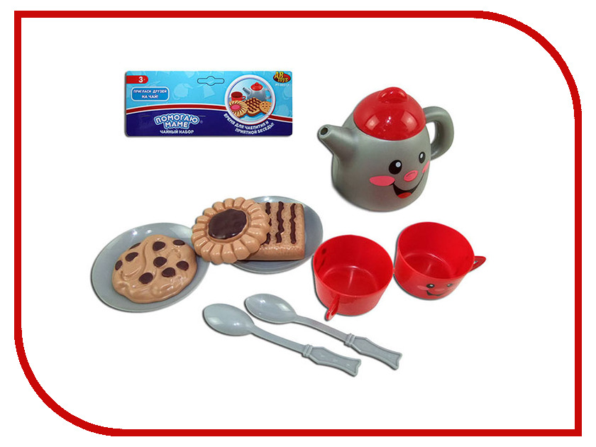 купить Набор посуды для чаепития ABtoys Помогаю Маме PT-00317 по цене 127 рублей