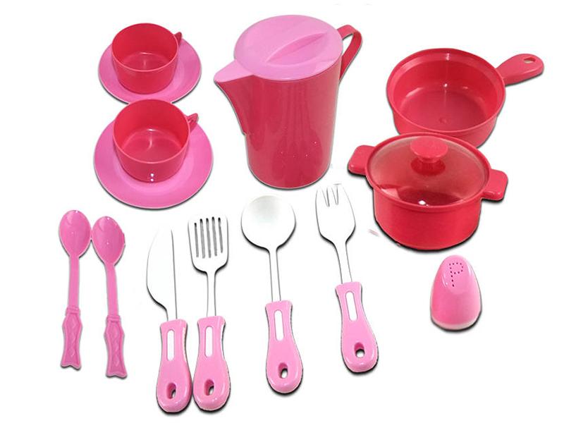 Набор посуды ABtoys Помогаю Маме PT-00326 набор продуктов в корзине abtoys помогаю маме pt 00335