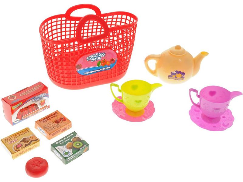 Набор посуды в корзине ABtoys Помогаю Маме PT-00336 набор продуктов в корзине abtoys помогаю маме pt 00335