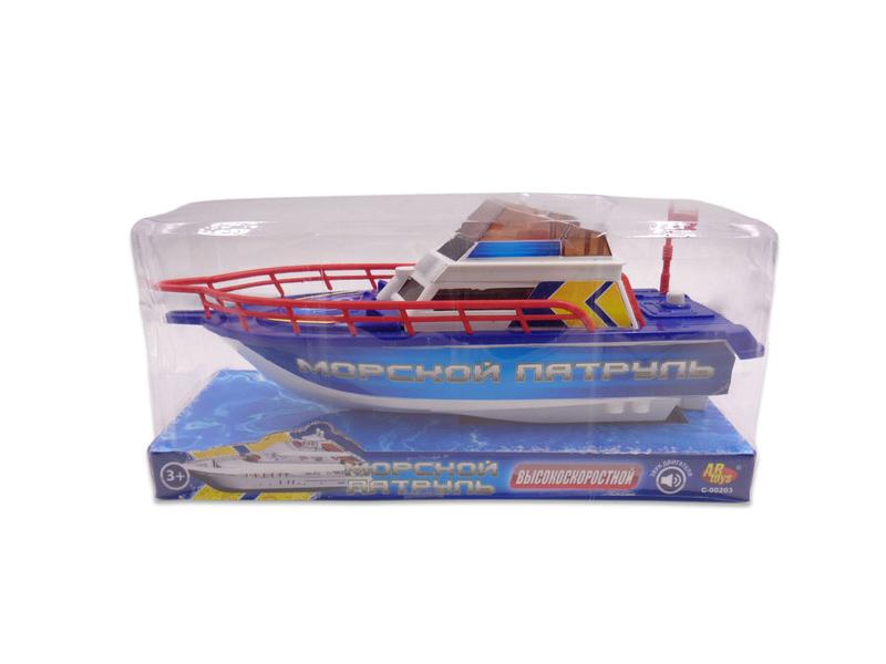 Игрушка ABtoys Катер Морской патруль C-00203 игрушка abtoys джип монстры бездорожья c 00190