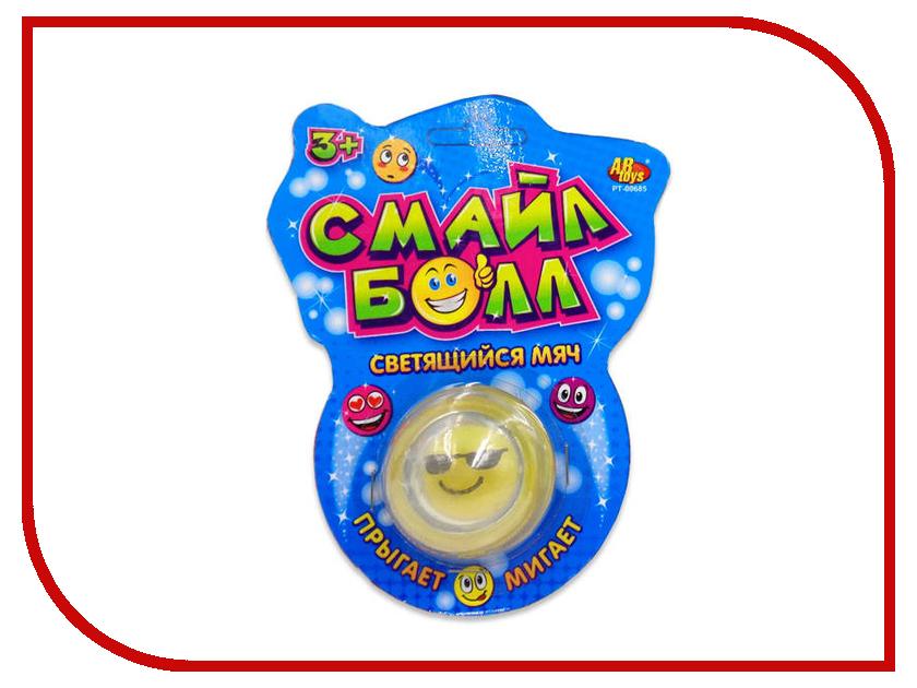 Игрушка ABtoys Светящийся мяч Смайл Болл PT-00685