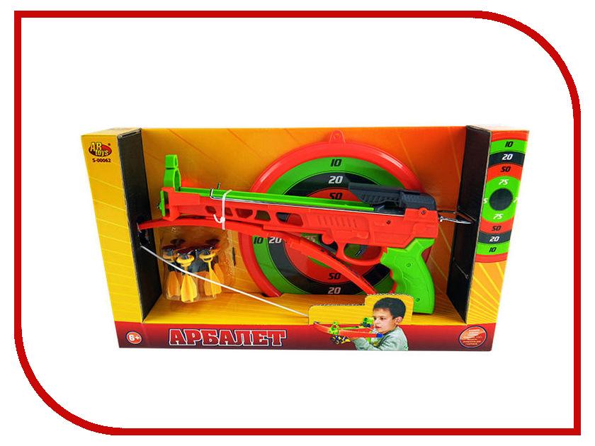 Игрушка ABtoys Арбалет с мишенью и снарядами S-00062 abtoys abtoys лук игрушка с прицелом с 3 мя мягкими снарядами