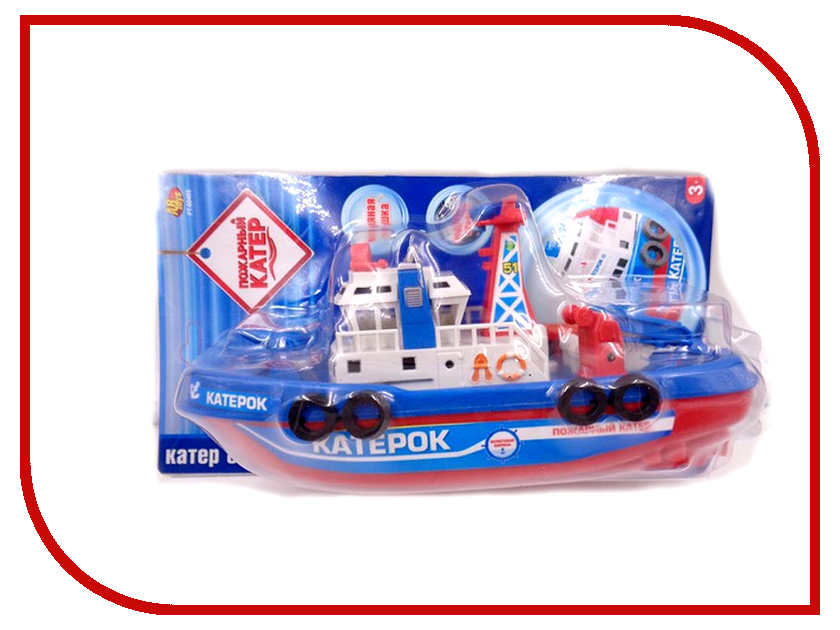 Игрушка ABtoys Пожарный катер PT-00405 игрушка abtoys веселое купание катер брызгалка pt 00518