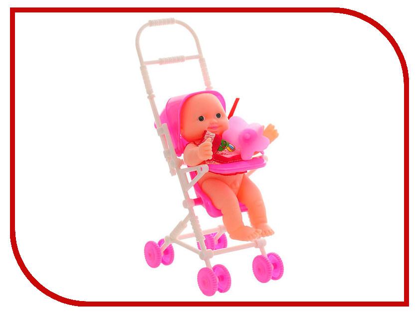 Кукла ABtoys Пупс Мой малыш с коляской и пустышкой PT-00514 кукла abtoys abtoys mp002xc002aq