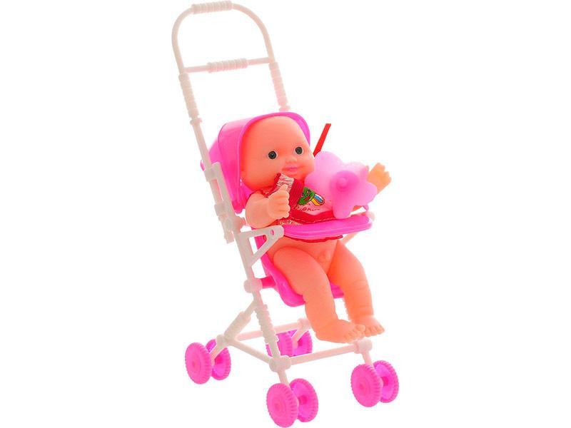 Кукла ABtoys Пупс Мой малыш с коляской и пустышкой PT-00514