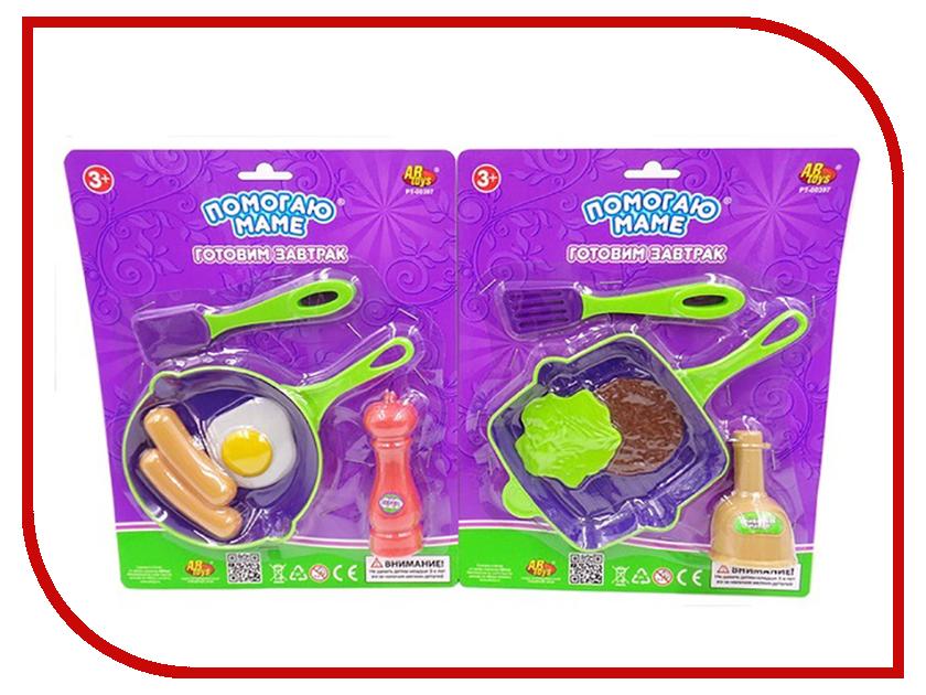 Игра ABtoys Набор посуды и продуктов Помогаю маме - Готовим завтрак PT-00397