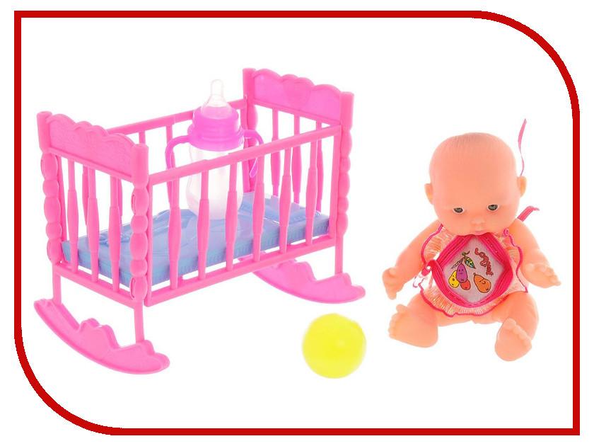 Кукла ABtoys Мой малыш - Пупс с кроваткой PT-00515 кукла abtoys пупс мой малыш pt 00616