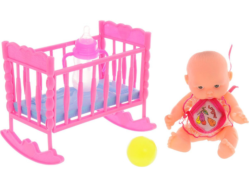 Кукла ABtoys Мой малыш - Пупс с кроваткой PT-00515