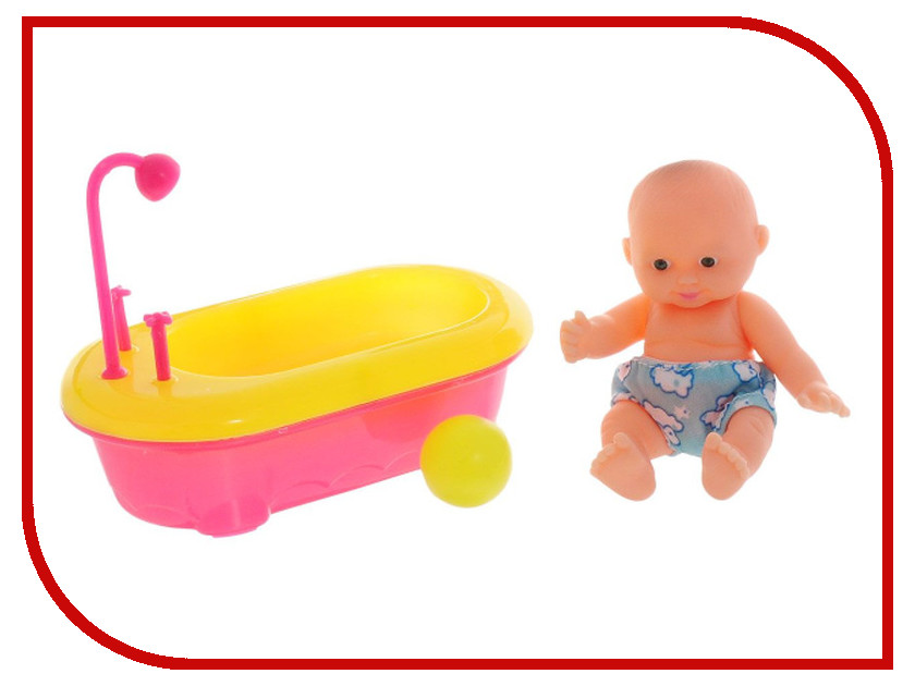 Кукла ABtoys Мой малыш - Пупс с ванночкой PT-00516 кукла abtoys пупс мой малыш pt 00616