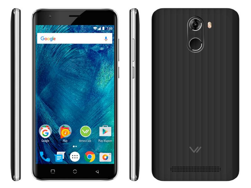 Сотовый телефон VERTEX Impress Frost Black сотовый телефон vertex impress new lte gold