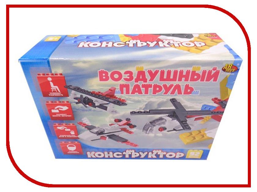 Конструктор ABtoys Воздушный патруль 92 дет. PT-00446 кубики abtoys 34 дет pt 00478