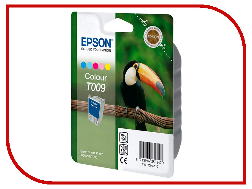 Картридж Epson T009 C13T00940110 для Stylus Photo 900/1270/1290 картридж epson color stylus photo 1270 1290 c13t00940110