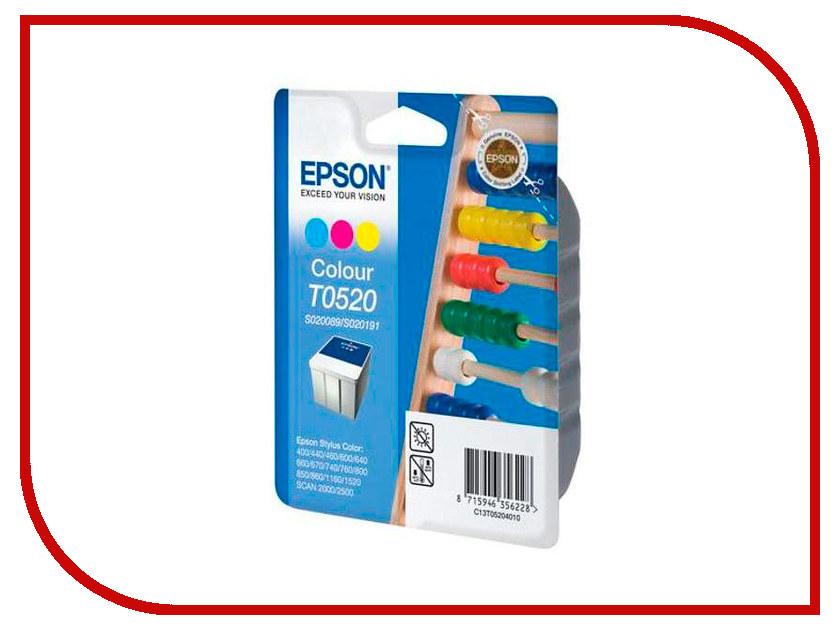 Картридж Epson T0520 C13T05204010 для Stylus Color 760/800/400/440/670/850/860/1160/1520 / Stylus Scan 2000/2500 картридж epson t009402 для epson st photo 900 1270 1290 color 2 pack