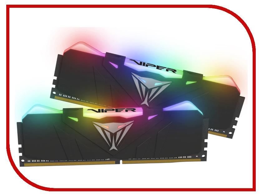 Модуль памяти Patriot Memory DDR4 DIMM 3200Mhz PC4-25600 CL16 - 16Gb KIT (2x8Gb) PVR416G320C6K модуль памяти hp 16gb 2rx4 pc3 12800r 11 kit 672631 b21