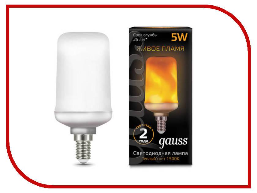 Лампочка Gauss Corn Flame E14 5W T65 1500K 157401105
