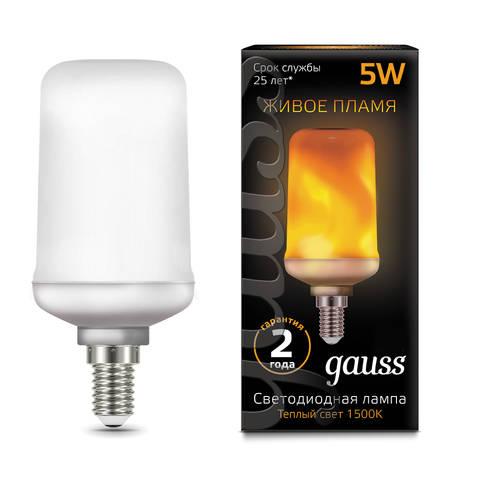 Лампочка Gauss Corn Flame E27 5W T65 1500K 157402105